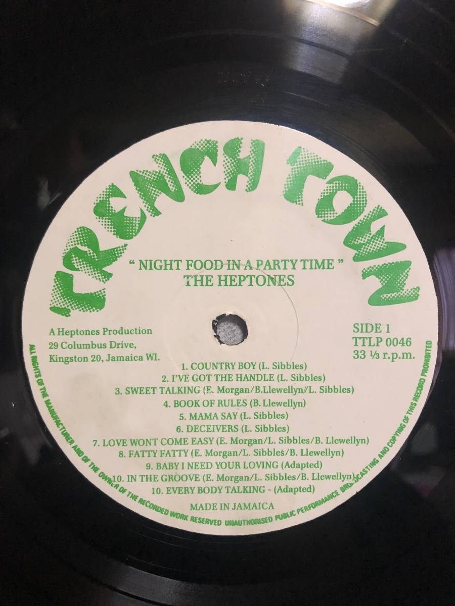 76. Roots . LP ★ The Heptones - Night Food In A Party Time_画像3
