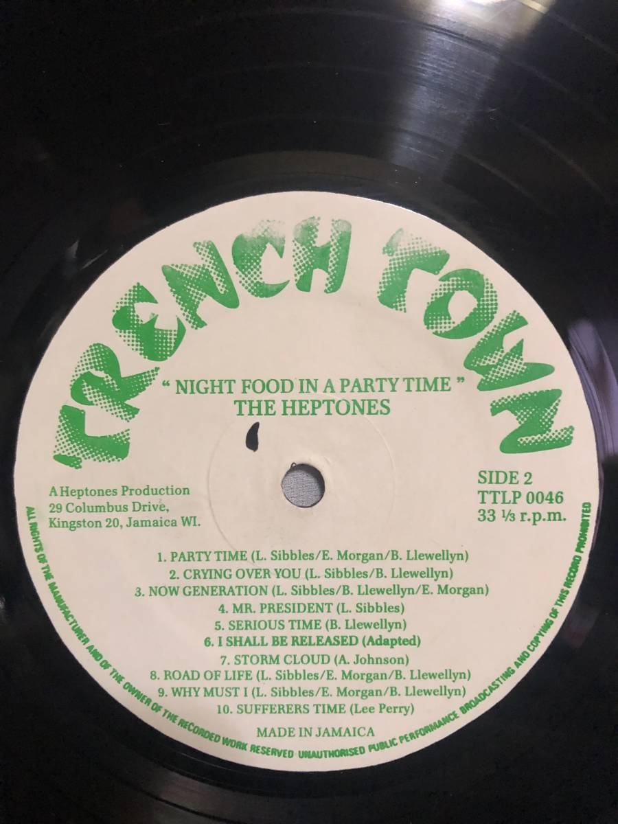 76. Roots . LP ★ The Heptones - Night Food In A Party Time_画像4
