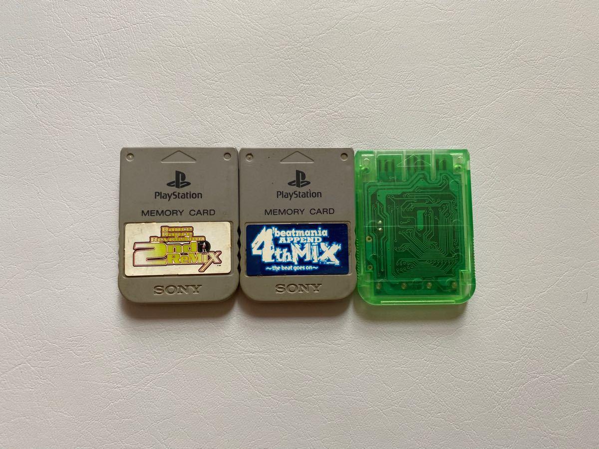 PSメモリーカード 3個 ソニー純正 プレイステーション SONY