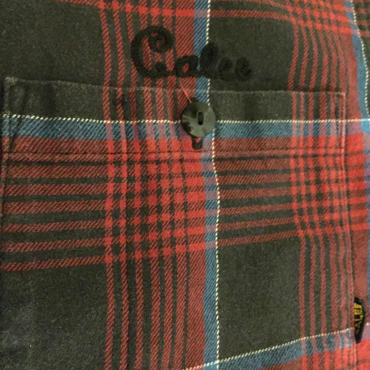 CALEE ネルシャツ チェック柄 チェックシャツ 長袖 キャリー XL