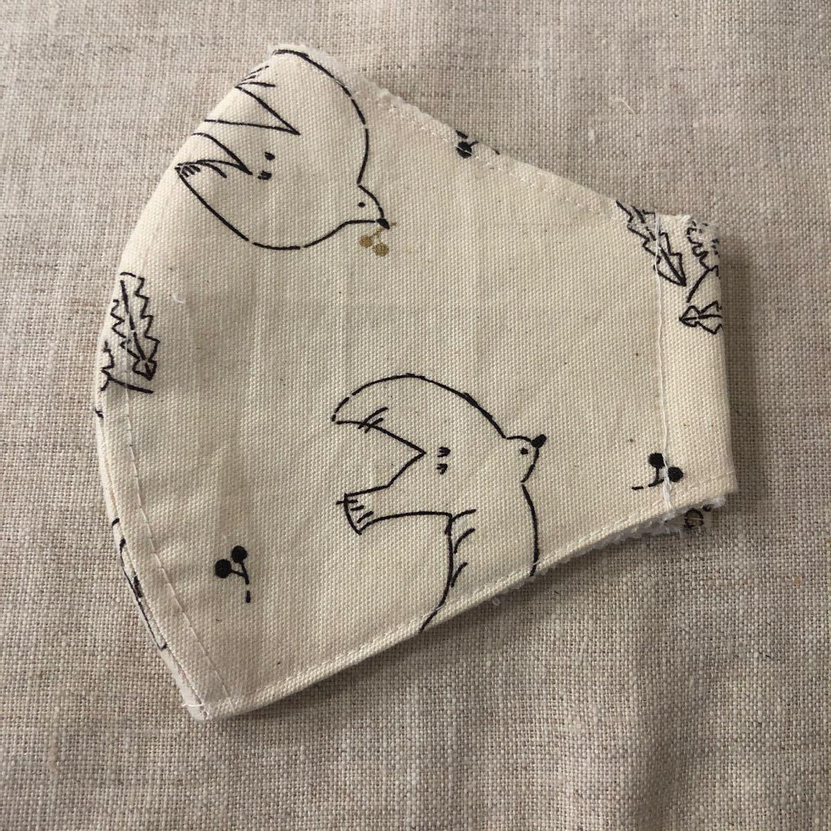 可愛い鳥柄 インナー ハンドメイド