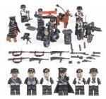 【新品・即決!!】激レア LEGO レゴ MOC 互換 WW2 第二次世界大戦 ナチス ドイツ軍 陸軍 アーミー 指揮官 ミニフィグ 6体セット兵器付 D245_画像2