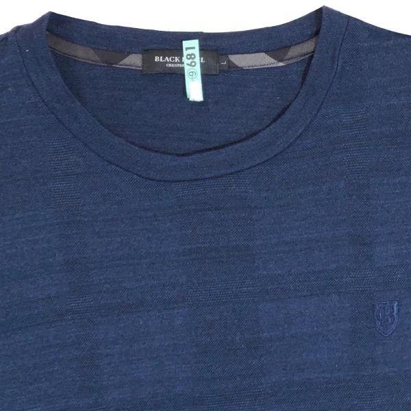 送料無料 ブラックレーベルクレストブリッジ シャドーチェック Tシャツ メンズ 男性用 L ネイビー 紺 半袖シャツ BLACK LABEL CRESTBRIDGE_画像4