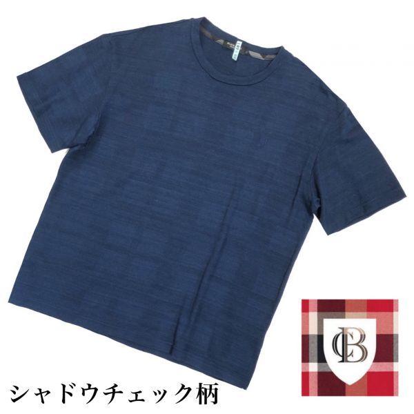 送料無料 ブラックレーベルクレストブリッジ シャドーチェック Tシャツ メンズ 男性用 L ネイビー 紺 半袖シャツ BLACK LABEL CRESTBRIDGE_画像1
