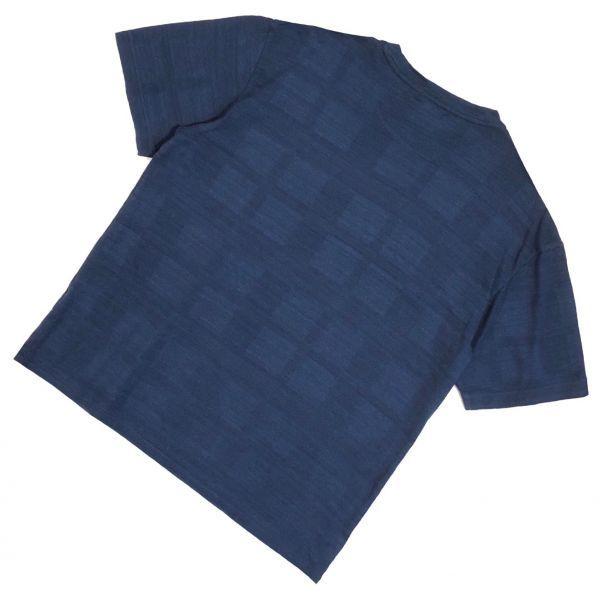 送料無料 ブラックレーベルクレストブリッジ シャドーチェック Tシャツ メンズ 男性用 L ネイビー 紺 半袖シャツ BLACK LABEL CRESTBRIDGE_画像2