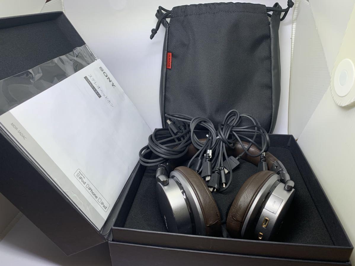 ソニー ヘッドホン MDR-1ADAC ハイレゾ対応 USB DAC搭載 密閉型 折りたたみ式 ケーブル着脱式SONY iphone シルバー_画像10
