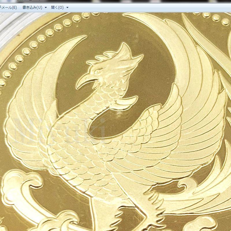 匿名配送 鳳凰 菊の御紋 コイン メダル 2色セット 40mm ゴールド シルバー 2個 金 銀 記念コイン コレクションコイン 菊紋 菊御紋_画像4
