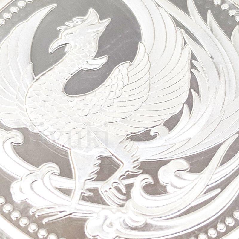 匿名配送 鳳凰 菊の御紋 コイン メダル 2色セット 40mm ゴールド シルバー 2個 金 銀 記念コイン コレクションコイン 菊紋 菊御紋_画像9