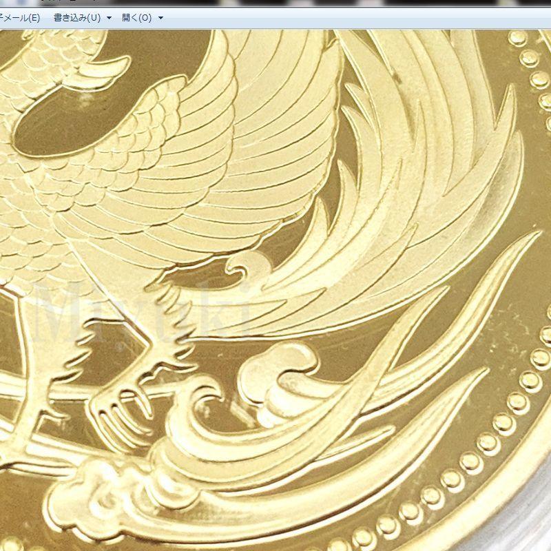 匿名配送 鳳凰 菊の御紋 コイン メダル 2色セット 40mm ゴールド シルバー 2個 金 銀 記念コイン コレクションコイン 菊紋 菊御紋_画像5