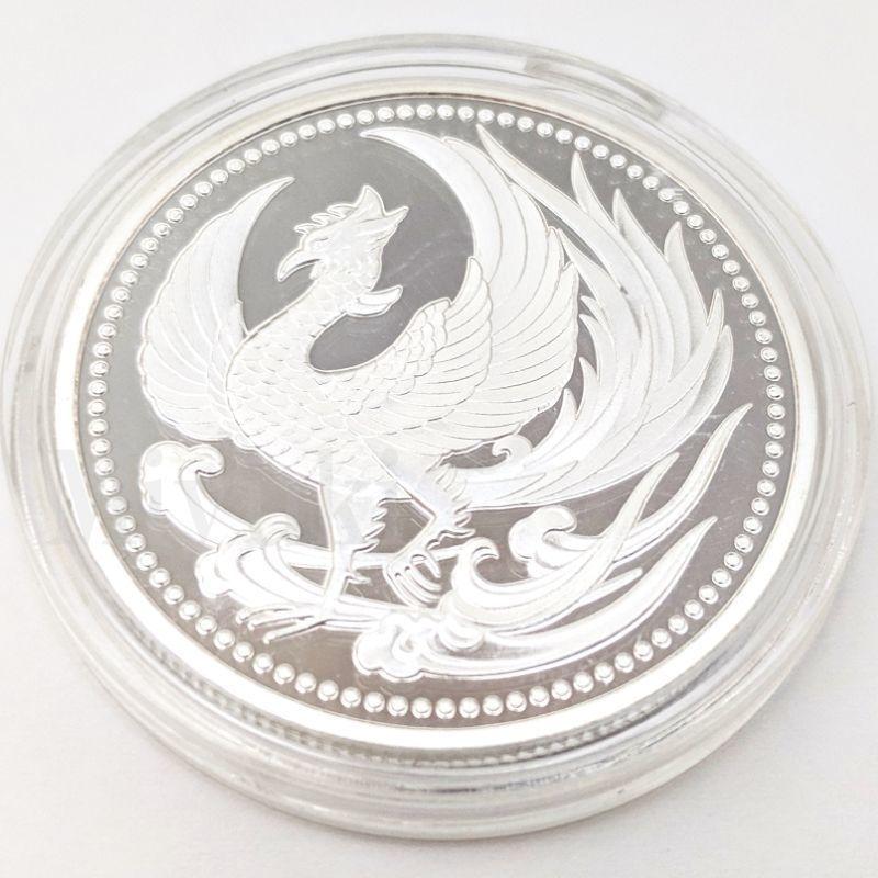 匿名配送 鳳凰 菊の御紋 コイン メダル 2色セット 40mm ゴールド シルバー 2個 金 銀 記念コイン コレクションコイン 菊紋 菊御紋_画像7