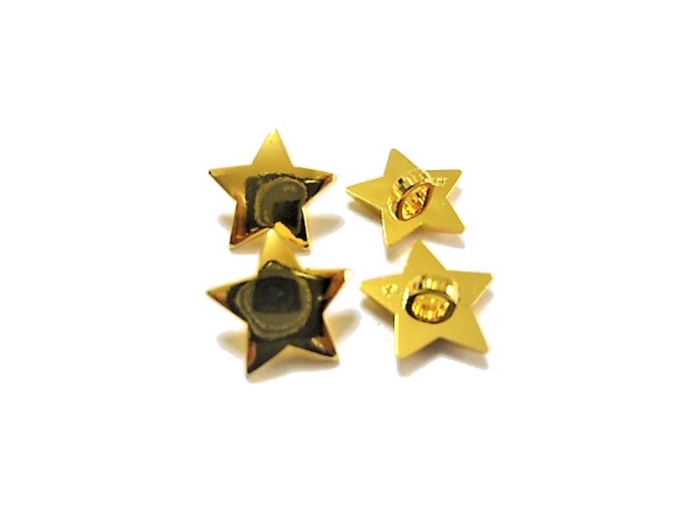 送料無料 手芸 素材 ファッション 材料 13mm ゴ-ルド色 星 ABS メタル ボタン 30個入り ms297-2