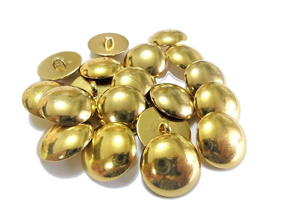 送料無料 手芸 素材 ファッション 材料 15mm ゴ-ルド色 プレ-ン メタル ABS ボタン 30個入り ms156