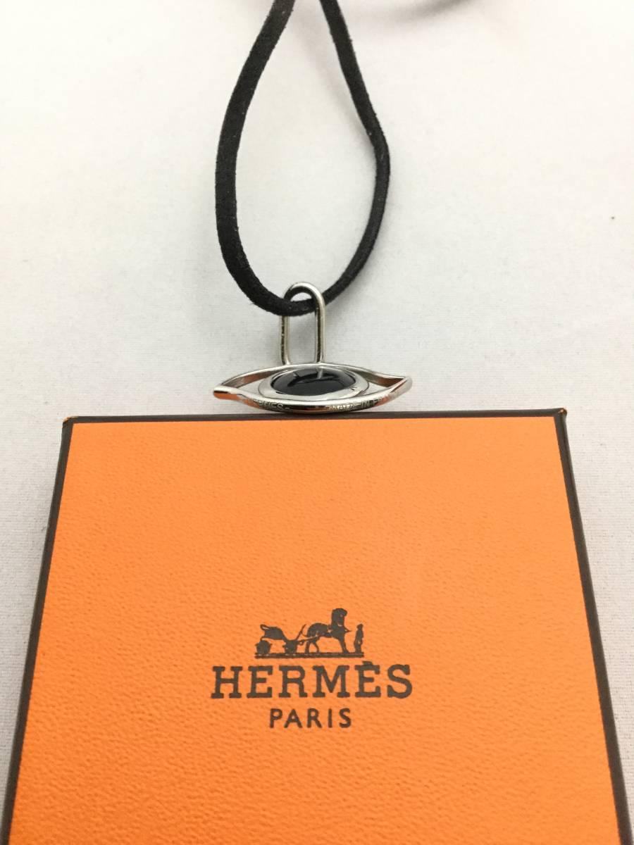 HERMES エルメス キュリオジテ オニキス ネックレス トップ アクセサリー【C314142】_画像4