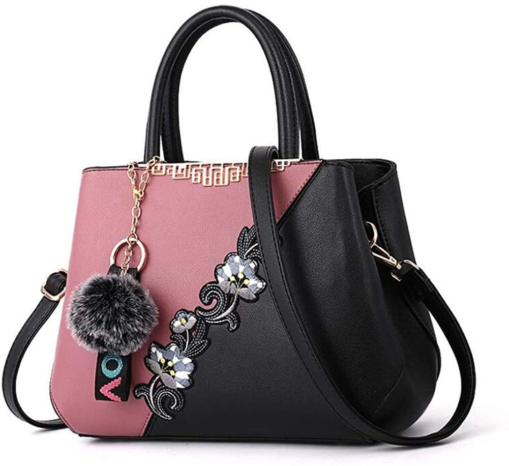 ピンク ハンドバッグ ショルダーバッグ 女性レザーカバン 革鞄 婦人カバン ファスナー ギフト 母の日プレゼント 収納小物 レディース_画像1
