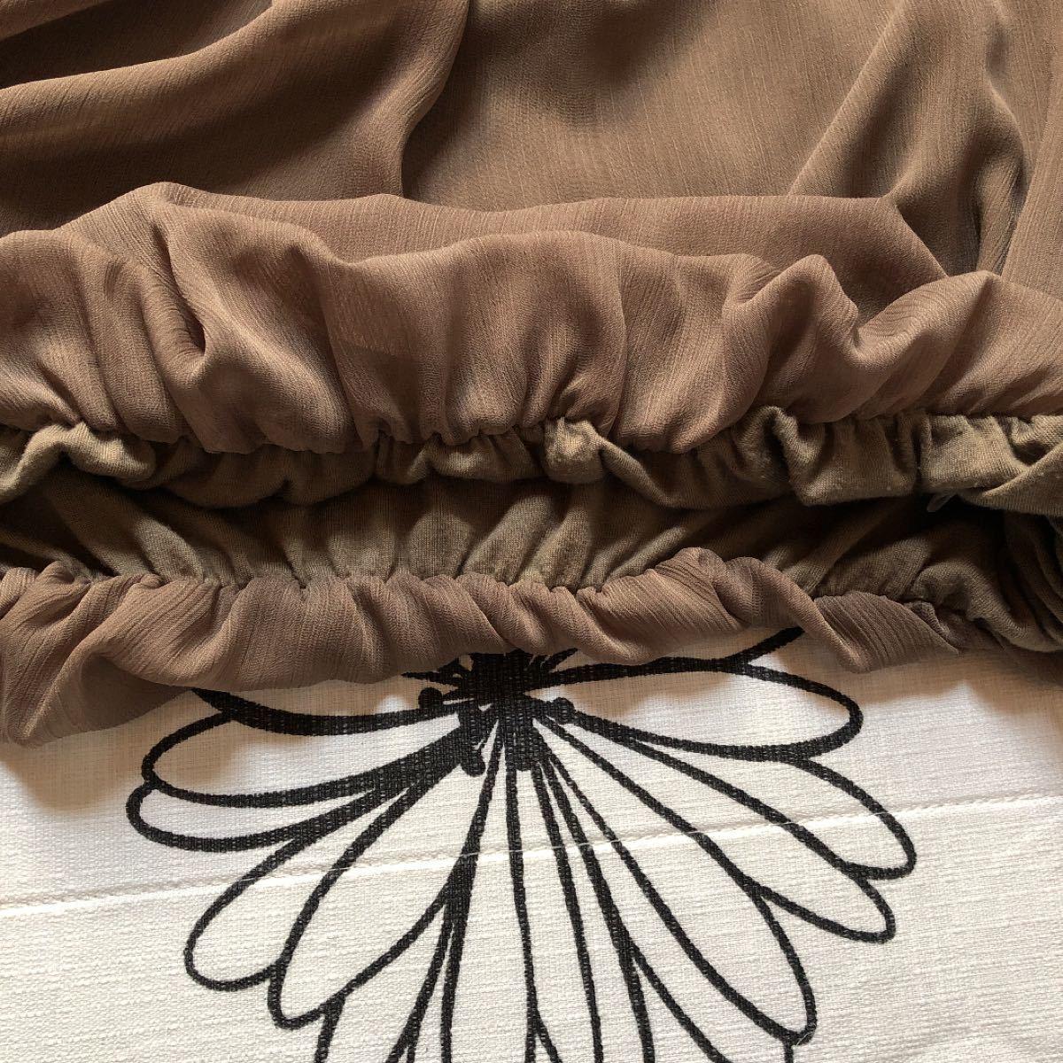 シフォン素材 半袖カットソー