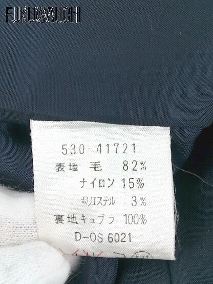 ◇ MISS CHLOE クロエ ストライプ 長袖 ジャケット 膝丈 スカートスーツ 上下 セットアップ 42 ネイビー系 レディース_画像4