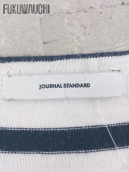 ◇ JOURNAL STANDARD ジャーナルスタンダード ボーダー 七分袖 ミニ ワンピース ホワイト ネイビー レディース_画像3