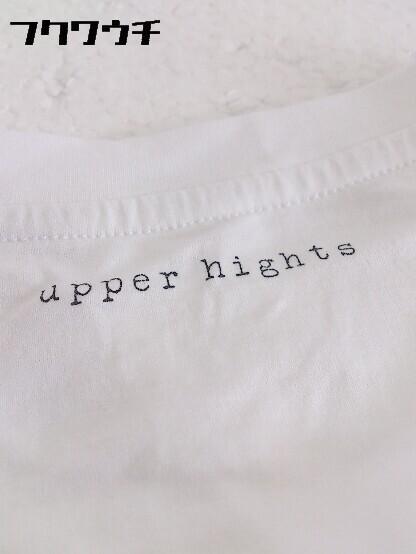◇ ●美品● upper hights アッパーハイツ タグ付き ノースリーブ Tシャツ カットソー Sサイズ ホワイト レディース_画像5