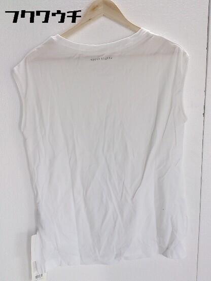 ◇ ●美品● upper hights アッパーハイツ タグ付き ノースリーブ Tシャツ カットソー Sサイズ ホワイト レディース_画像2