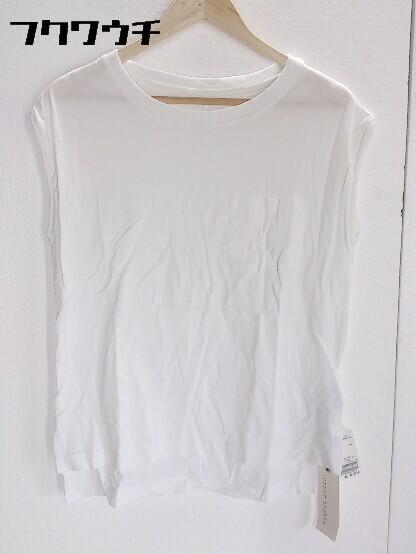 ◇ ●美品● upper hights アッパーハイツ タグ付き ノースリーブ Tシャツ カットソー Sサイズ ホワイト レディース_画像1