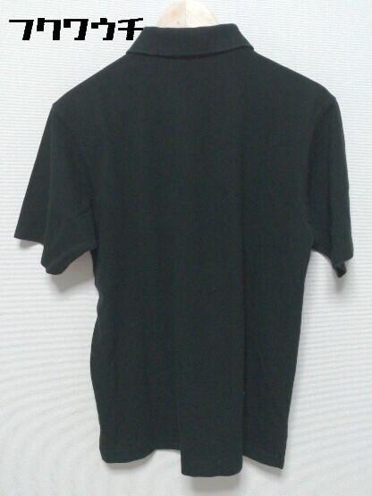 ◇ BURBERRY LONDON バーバリーロンドン 鹿の子 半袖 ポロシャツ サイズL ブラック メンズ_画像2