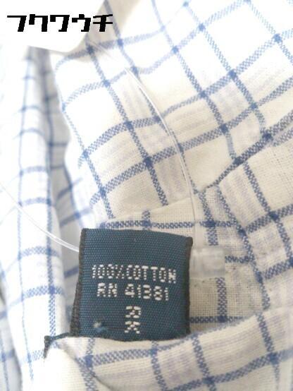 ◇ Ralph Lauren ラルフローレン 格子柄 ボタンダウン BD 半袖 シャツ サイズL ブルー メンズ_画像5