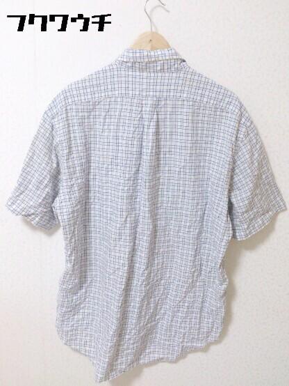 ◇ Ralph Lauren ラルフローレン 格子柄 ボタンダウン BD 半袖 シャツ サイズL ブルー メンズ_画像2