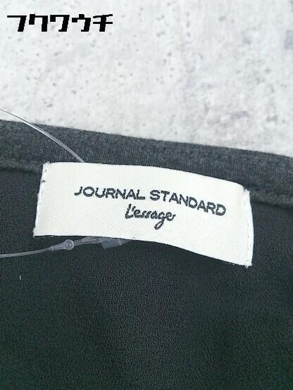 ◇ JOURNAL STANDARD ジャーナルスタンダード 七分袖 膝丈 チュニック ワンピース L グレー * 1002799799768_画像3