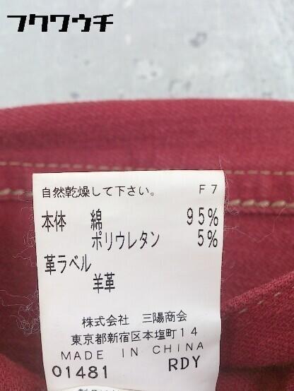 ◇ EPOCA エポカ ブーツカット ジーンズ デニム パンツ 38 レッド * 1002800050949_画像5