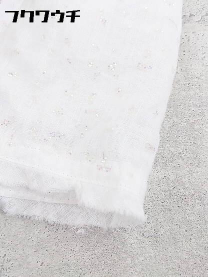◇ ZUCCa ズッカ ウエストゴム 膝下丈 フレア ギャザー スカート M ホワイト * 1002796867002_画像5