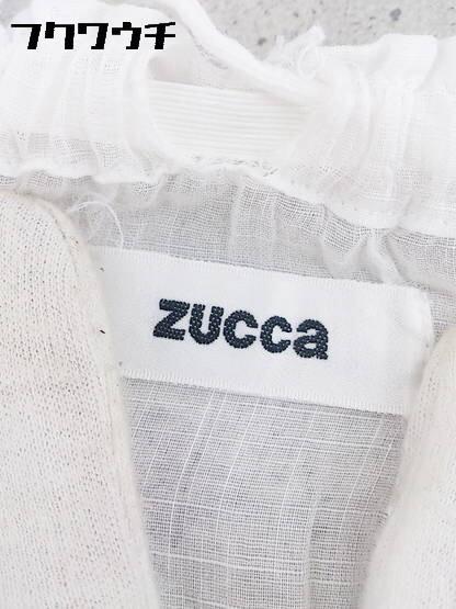 ◇ ZUCCa ズッカ ウエストゴム 膝下丈 フレア ギャザー スカート M ホワイト * 1002796867002_画像3