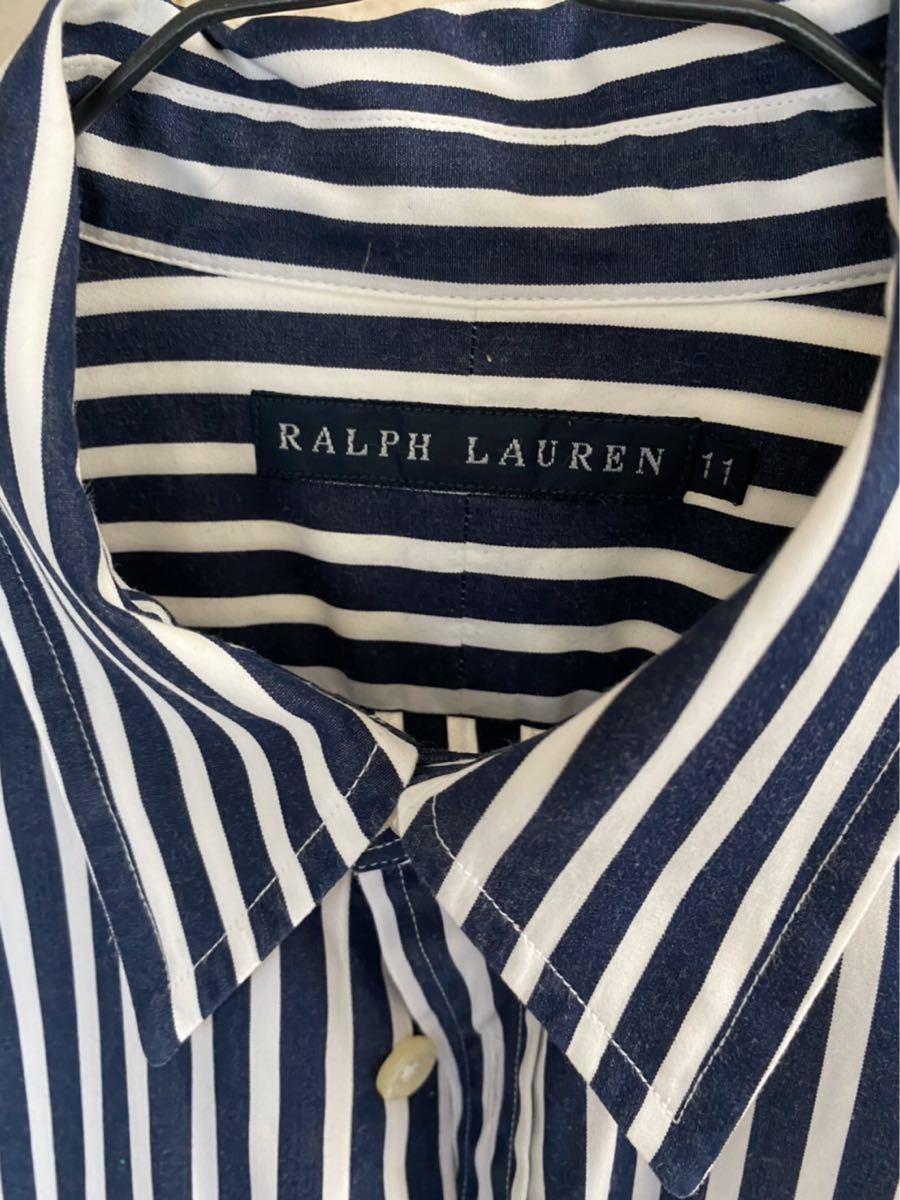 【レディース】ラルフローレンシャツ 長袖シャツ ストライプシャツ