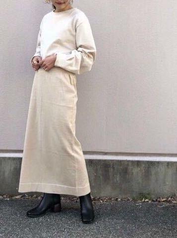新品カスタネ ラメ入ロングタイトスカート ロングスカート薄手ニットタイトスカートKastaneラメニットスカート定価\5280チャオパニック系列