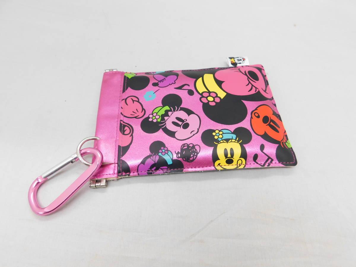 ☆05-40 ディズニー腕時計2個 置き時計 パスケース グッズセット ミッキー&ミニー Disney_画像9