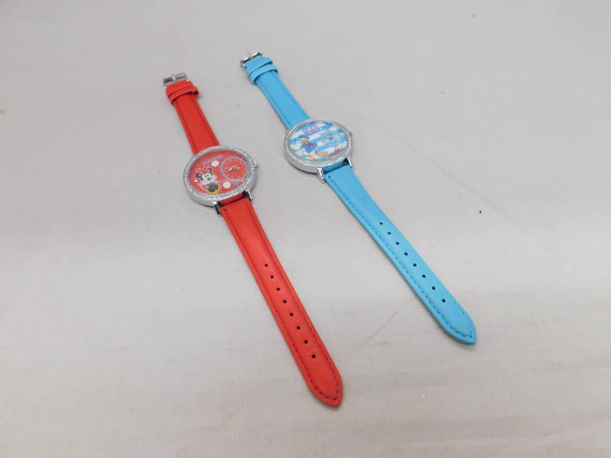 ☆05-40 ディズニー腕時計2個 置き時計 パスケース グッズセット ミッキー&ミニー Disney_画像5
