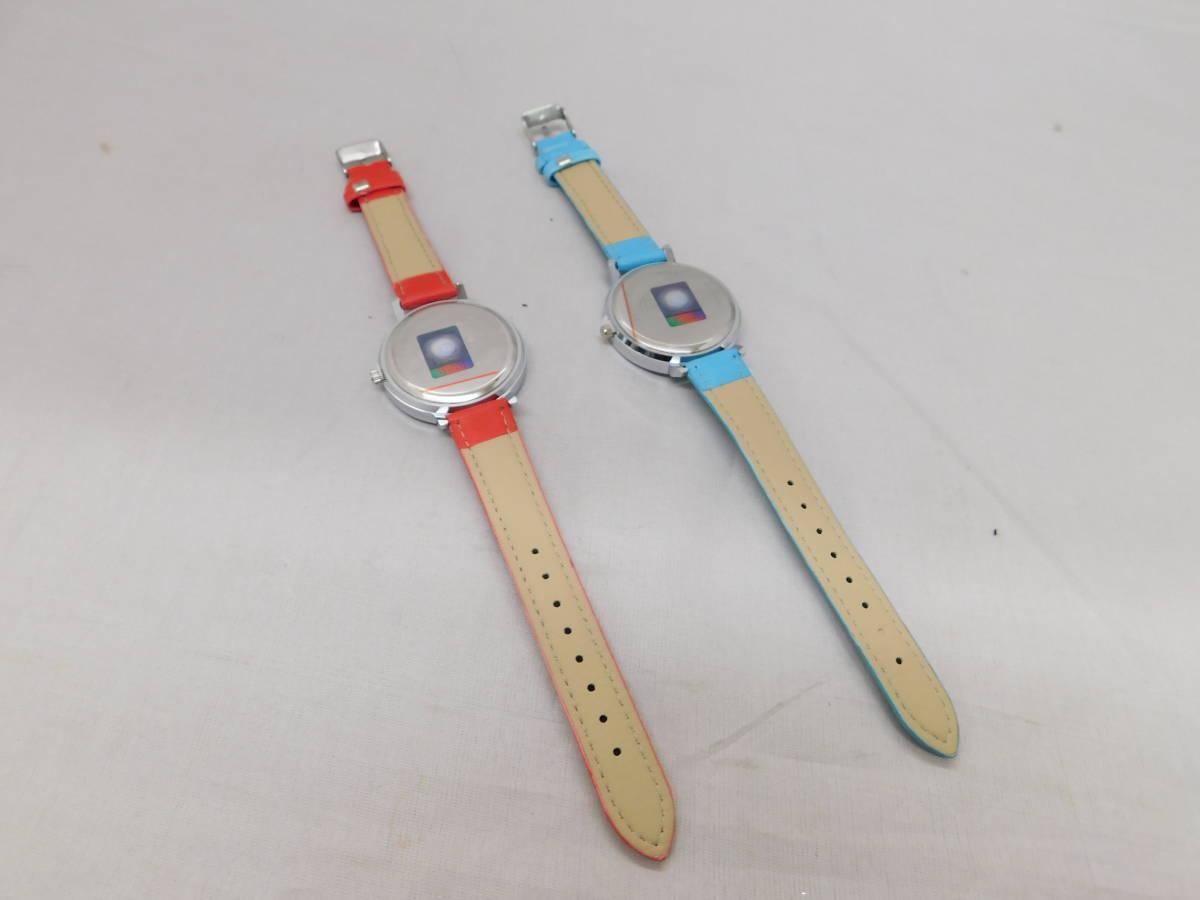 ☆05-40 ディズニー腕時計2個 置き時計 パスケース グッズセット ミッキー&ミニー Disney_画像7