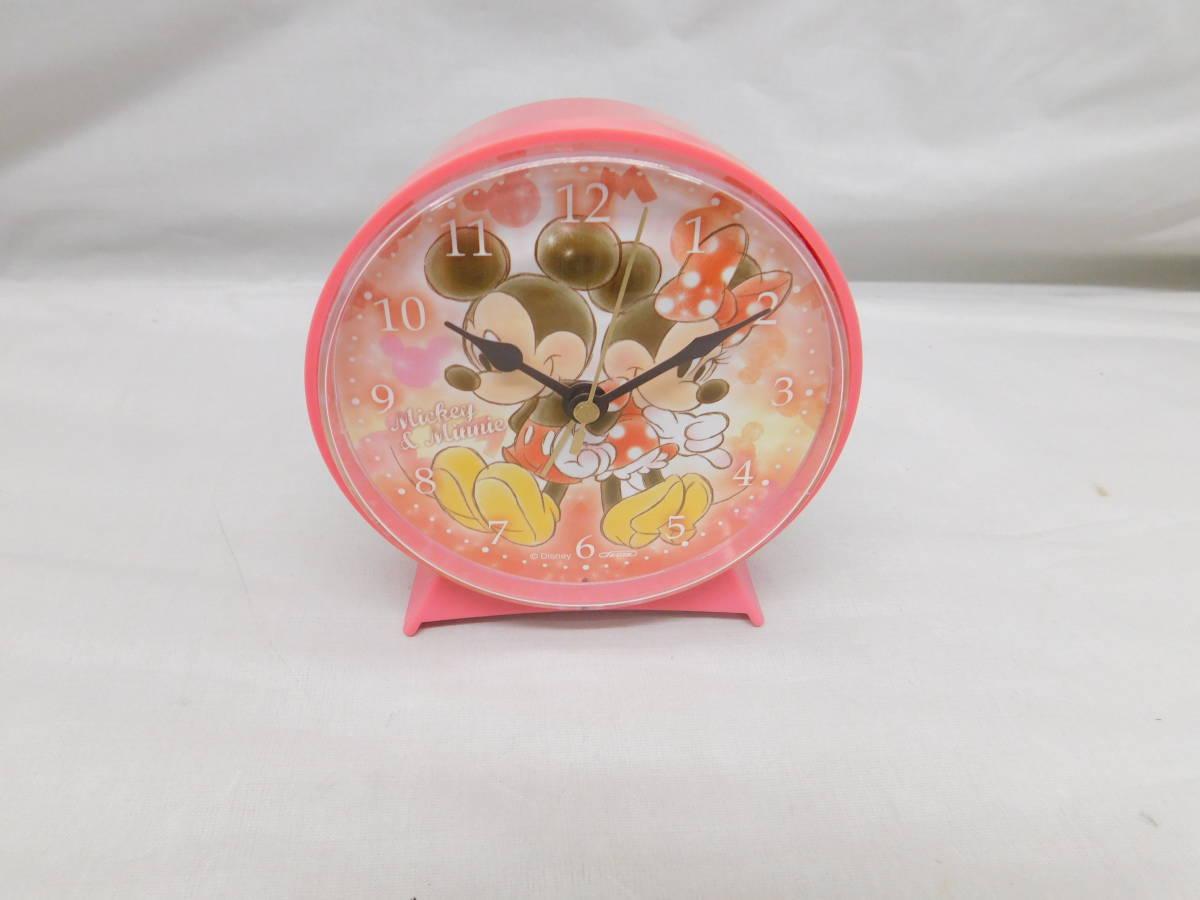 ☆05-40 ディズニー腕時計2個 置き時計 パスケース グッズセット ミッキー&ミニー Disney_画像1