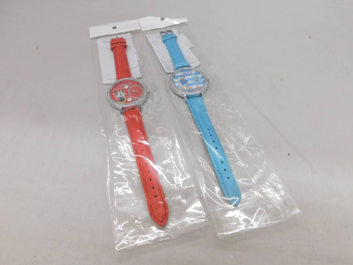 ☆05-40 ディズニー腕時計2個 置き時計 パスケース グッズセット ミッキー&ミニー Disney_画像8