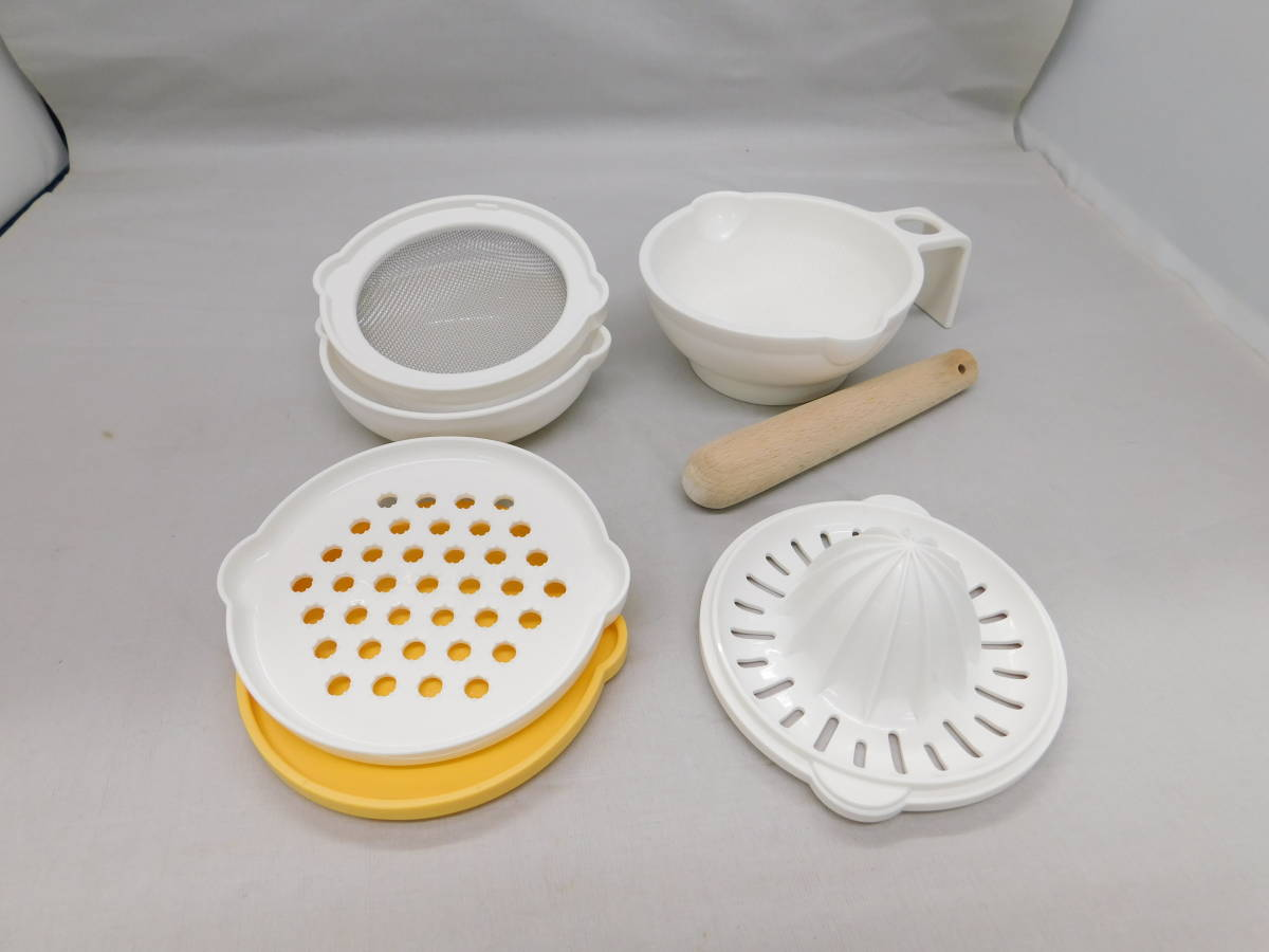 ☆05-90 ピジョン 離乳食調理セット 電子レンジOK スプーンなし 清掃済み