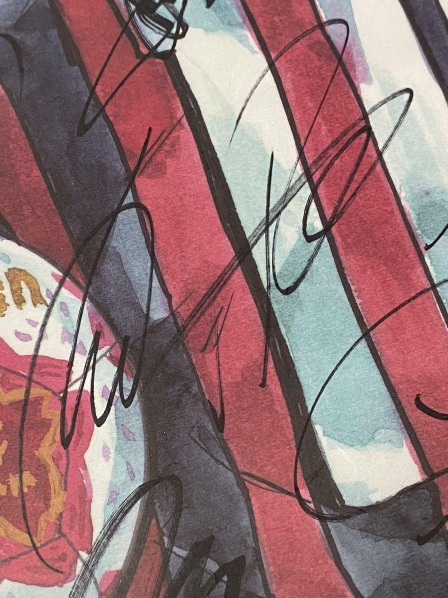 第97回天皇杯全日本サッカー選手権大会 ヴィッセル神戸 ポドルスキ 他 直筆サイン寄せ書き大会非売品ポスター額装品(ポドルスキ生写真付き)_画像3