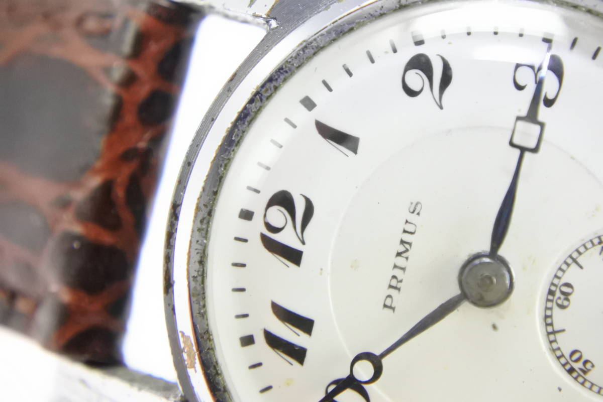 ☆1930~40年頃  可なり昔 PRIMUS  手巻紳士時計  アンティーク品_画像3