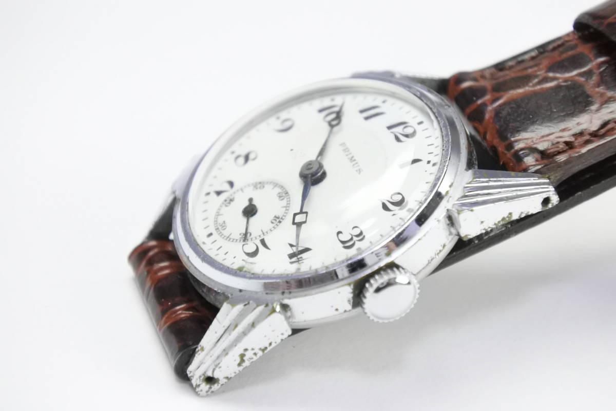 ☆1930~40年頃  可なり昔 PRIMUS  手巻紳士時計  アンティーク品_画像6