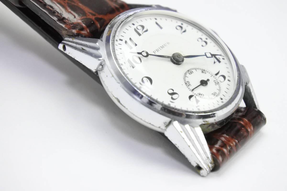 ☆1930~40年頃  可なり昔 PRIMUS  手巻紳士時計  アンティーク品_画像7