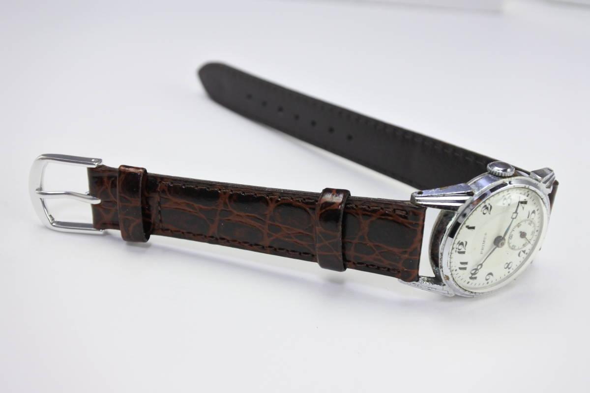 ☆1930~40年頃  可なり昔 PRIMUS  手巻紳士時計  アンティーク品_画像8