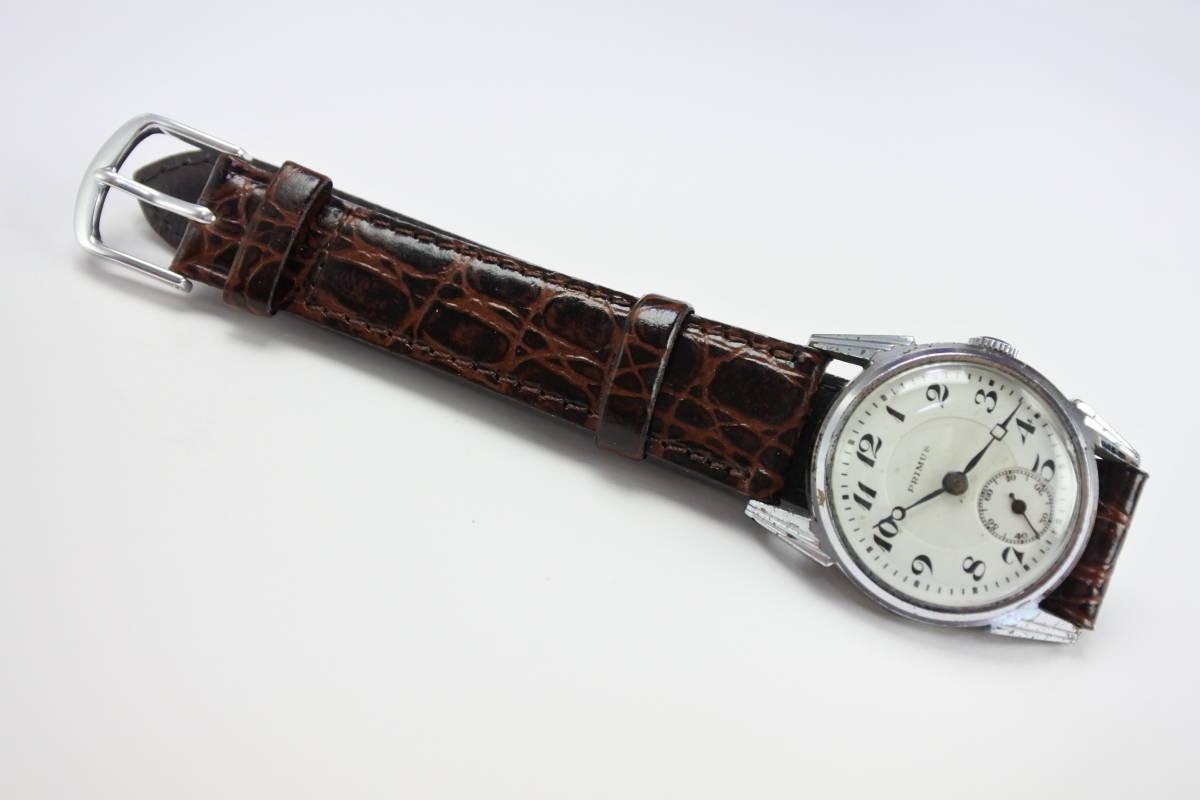 ☆1930~40年頃  可なり昔 PRIMUS  手巻紳士時計  アンティーク品_画像9