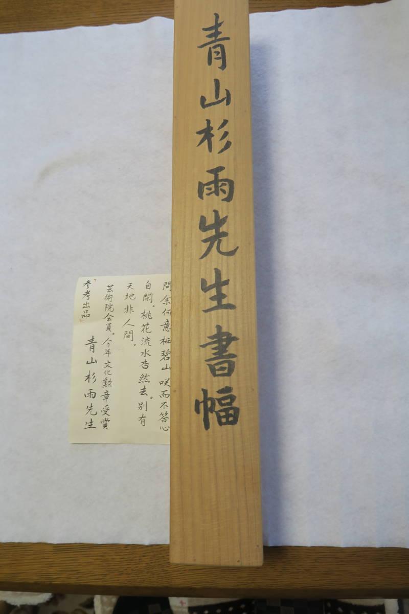 青山杉雨先生(文化勲、文功、芸術院会員)紙本 巻物 書 条幅 掛軸_画像4