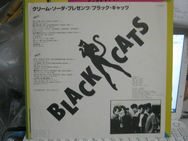 BLACK CATS ブラックキャッツ / クリームソーダ・プレゼンツ 帯付LP CREAM SODA PINK DRAGON STRAY CATS MAGIC RODEO Wface BLUE ANGEL _画像3