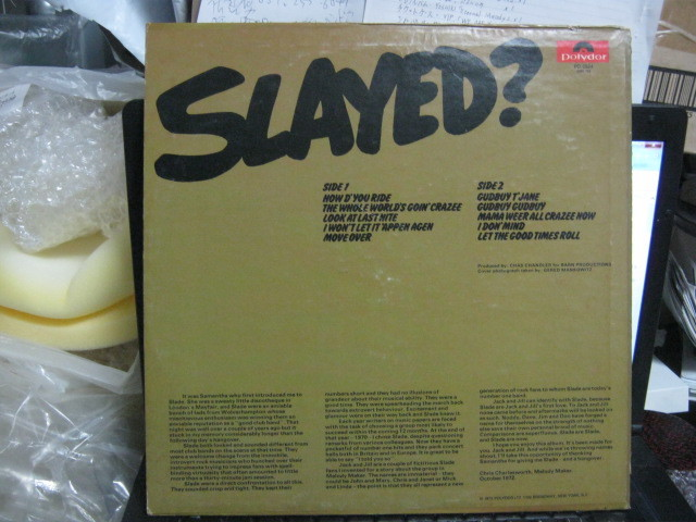 SLADE スレイド / SLAYED? U.S.LP _画像2