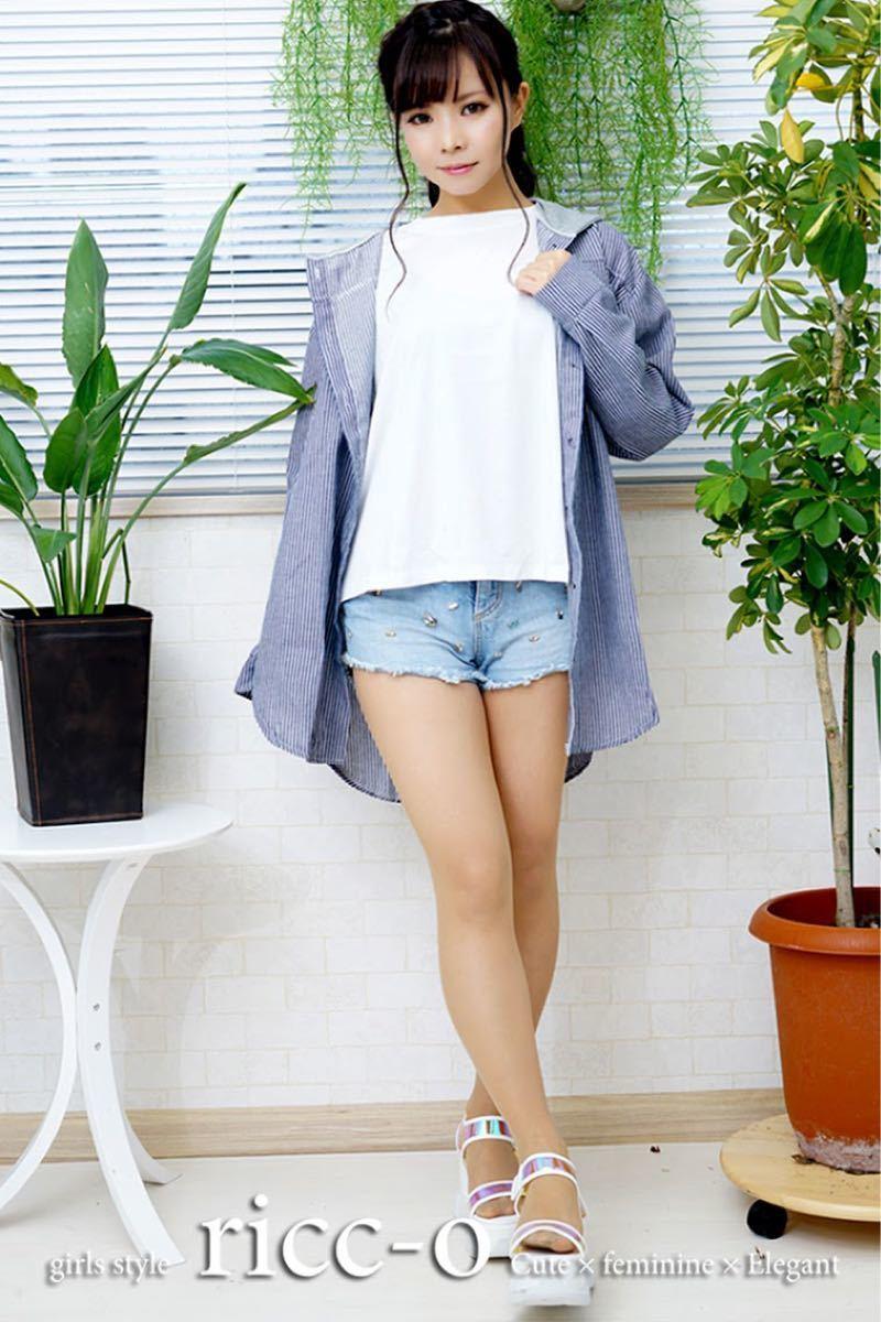 オーバーシャツ Mサイズ フード付き ストライプ ゆったり カジュアル 春夏