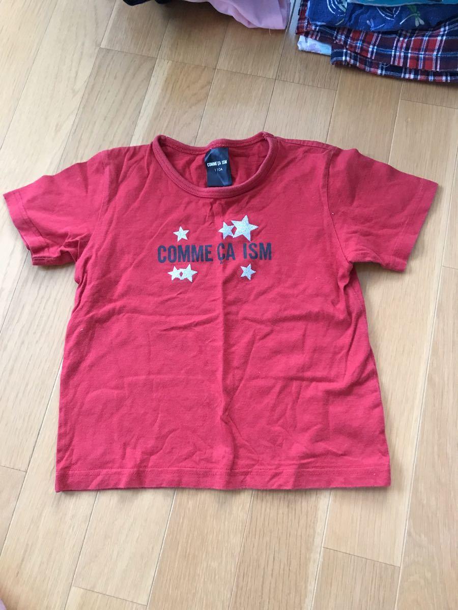 コムサイズム サイズ110 男の子用 赤色 Tシャツ 半袖Tシャツ